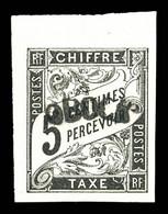 N°1a, 5c Noir, Reimpression, Haut De Feuille, Fraîcheur Postale. SUP (certificat)  Qualité: ** - Unused Stamps