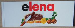 ADESIVI NUTELLA NOMI, ELENA - Nutella