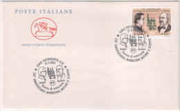 """Italia - 2003 - FDC Cavallino """"Invenzione Del Motore A Scoppio""""  MNH** (rif.2730 Cat.Unif.) - F.D.C."""