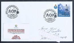 Football In The Covid Era. Stamp Artur De Sousa Player Futebol Clube Do Porto. Voetbal In Het Covid-tijdperk. Soccer - Storia Postale