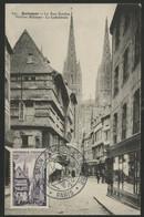"""N° 979 QUIMPER Sur CARTE MAXIMUM + Cachet Illustré """"VIII° SALON PHILATELIQUE D'AUTOMNE PARIS 12/11/54"""" - 1950-59"""