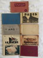 Lot De 9 Carnets Cartes Postales Anciennes: 01 06 13 63 64 75 76(3) Soit109 Cp - Unclassified