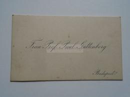 D176776 Carte Visite-Visinting Card Ca 1910-20  Frau Prof. Paul Guttenberg  Budapest  Hongrie Hungary - Cartoncini Da Visita