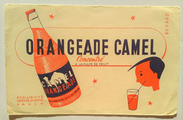 Buvard PUB Orangeade Camel. Exclusivité Caves De La Craffe Nancy. Illustrateur Dromadaire - Softdrinks
