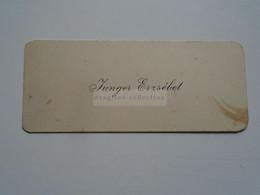 D176784  Carte Visite-Visinting Card Ca 1910-20  JUNGER Erzsébet   Budapest  Hongrie Hungary - Cartoncini Da Visita