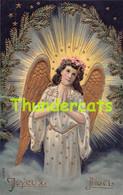 CPA EN RELIEF GAUFREE  ANGE GARDIEN EMBOSSE CARD GUARDIAN ANGEL - Anges