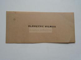 D176787 Carte Visite-Visinting Card Ca 1910-20  ALBRECHT Vilmos    Budapest  Hongrie Hungary - Cartoncini Da Visita