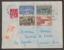 Affranchissement à 6F  Sur Lettre En Recommandé  De Paris Pour Buenos Ayres - Briefe U. Dokumente