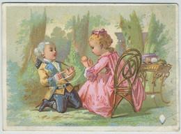 Chromo. Au Printemps. Imprimeur Dangivillé & Cie. Ticket De Chaise. Chaises Des Promenades. - Sonstige
