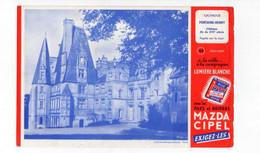 Buvard à La Ville à La Campagne Lumière Blanche Piles Et Boitiers Mazda Cipel - Chateau De Fontaine-Henry Calvados - Accumulators