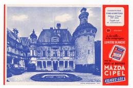 Buvard Piles Et Boitiers Mazda Cipel - Château D'Usson - Accumulators