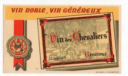 Buvard Vin Noble Et Généreux - Vin Des Chevaliers - V