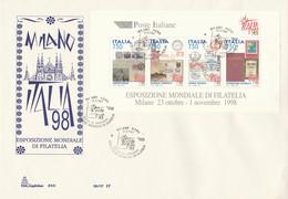 FDC ITALIA 98 FOGLIETTO 4X750 (ZY532 - F.D.C.
