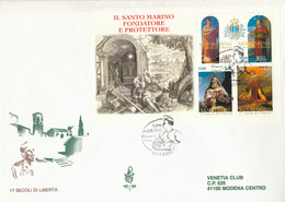 FDC SAN MARINO FOGLIETTO 2000 VENETIA SANTO MARINO (ZY583 - FDC