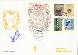 FDC SAN MARINO FOGLIETTO 2000 VENETIA ANTICHE ISTITUZIONE (ZY591 - FDC