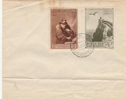 BUSTA SAN MARINO - EMISSIONE 1944 PRO CASE POPOLARI ANNULLO 1953 -strappo In Basso (ZY724 - Briefe U. Dokumente