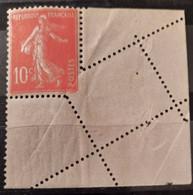 France 1907 N°138 Varieté De Piquage ** TB - Ungebraucht
