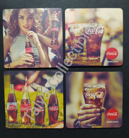 4 Different Sous Bock Coca Cola From Turkey - Portavasos