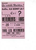 Buvard Vêtements Pour Tous De La Rue Saint Pierre à Caen - V