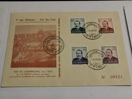 FDC, Vue De Luxembourg. Série Caritas 1952 - FDC