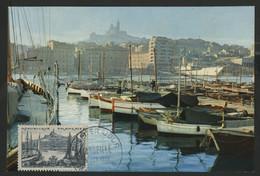N° 1037 MARSEILLE Sur CARTE MAXIMUM + Cachet à Date Premier Jour 15/10/55 - 1950-59