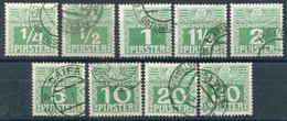 AUSTRIA PO IN LEVANT 1908 Postage Due Set Complete Used.  Michel Porto 6-14 - Levant Autrichien