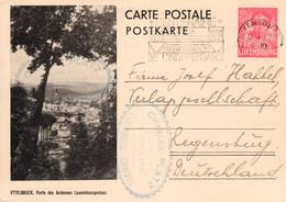 PRIFIX N0112a Lignes épaisses Oblitérée Ettelbruck Très Rare - Stamped Stationery