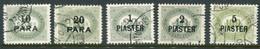 AUSTRIA PO IN LEVANT 1902 Postage Due Set Complete Used.  Michel Porto 1-5 - Levant Autrichien