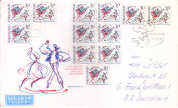 CZECHOSLOVAKIA : FIRST DAY COVER COMMERCIALLY USED : 07 JULY 1978 : 25TH FOLKLORE FESTIVAL, VYCHODNA - Cartas