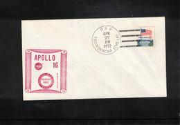 USA 1972 Space / Raumfahrt Apollo 16 Pacific Recovery Force USS Tonderoga Interesting Letter - USA