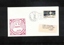 USA 1972 Space / Raumfahrt Apollo 17 Pacific Recovery Force USS Tonderoga Interesting Letter - USA