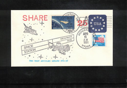 USA 1991 Space / Raumfahrt Space Shuttle STS-37 - Space Station  Interesting Letter - USA