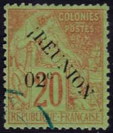 """✔️ Reunion 1891 - Dubois Avec Surcharge, Sans Accent, """"IREUNION"""", C En Haut - Yv. 29 (o) - €16 - Gebraucht"""