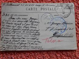 Cpa Camp D'auvours France Envoyée Congo Belge 1916 Guerre 14-18 Ww1 1wk - Armada Belga
