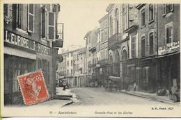 AMBERIEU  Grande Rue Et Les Halles - Altri Comuni