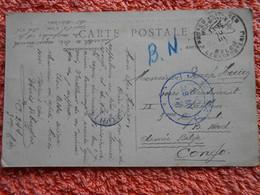 Cpa Paris France Envoyée Congo Belge 1917 Guerre 14-18 Ww1 1wk - Armada Belga