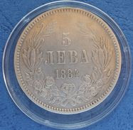 Bulgaria 5 Leva 1884 - Bulgaria
