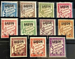 GABON 1928 - MNH/MLH - YT 1-11 - Chiffre Taxe - Timbres-taxe