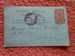 Entier Postal   Envoyée De Rutshuru Via Urumu Et Belgique 1916 Congo Belge Guerre 14-18 - 1894-1923 Mols: Cartas
