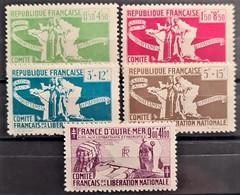 COLONIES FRANCAISES 1943 - MLH - YT 60-64 - Complete Set! - Autres