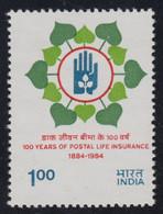 1984-INDIA-POSTAL LIFE INSURANCE-MINT SET** - Neufs
