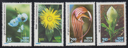 1982-INDIA-HIMALAYAN FLOWERS -MINT SET** - Neufs