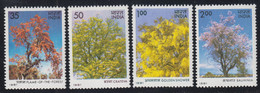 1981-INDIA-BLOOMING TREES-MINT SET** - Neufs