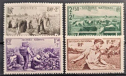 FRANCE 1940 - MNH - YT 466-469 - Complete Set! - Secours National - Ungebraucht
