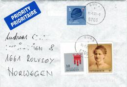 Bürs 11.8.2020 - Stefanie Isak [vgl. Adolf Hitler] Wappen Vorarlberg Tracht Astrachan-Kappe > Rolvsoy Norwegen - 2011-... Cartas
