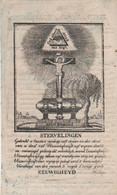 Abdij Tongerloo- Ludolphus Lamal-elsen 1749- 1828-staetsgevangenen  1810-zie Tekst-geknipt?handgeschept Papier - Andachtsbilder