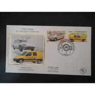 FDC Soie - Ambulance, Voiture Postale - 24/10/2003 Paris - 2000-2009