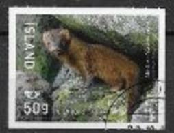 Islande 2020, Timbre Oblitéré Vison - Used Stamps