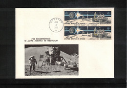 USA 1971 Space / Raumfahrt 10 Years Of USA By Space Travel Interesting Letter - USA