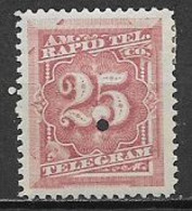 STATI UNITI D'AMERICA 1881 FRANCOBOLLI PER TELEGRAFO DENT.12 YVERT. 58  MLH VF - Ungebraucht